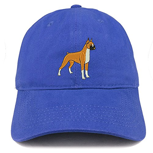 Trendy Apparel Shop Boxer Dog Breed Embroidered Brushed Cotton Dad Hat Cap - ()