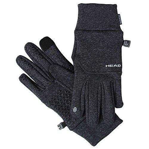 Head Unisex Digital Sport Running Gloves - Dark Heather Gray (SMALL) ()