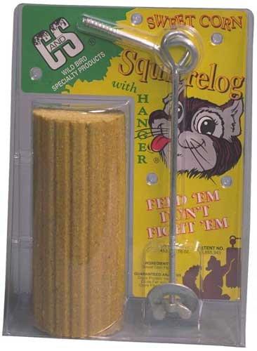 (Sweet Corn Squirrel Log w/hanger)