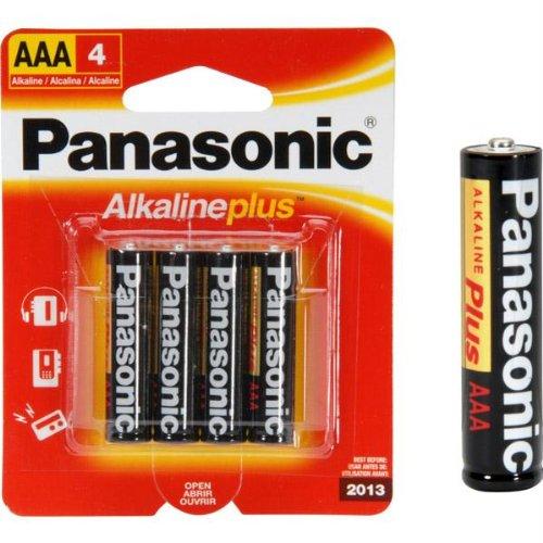 Panasonic AAA Alkaline Plus Battery Retail Pack -