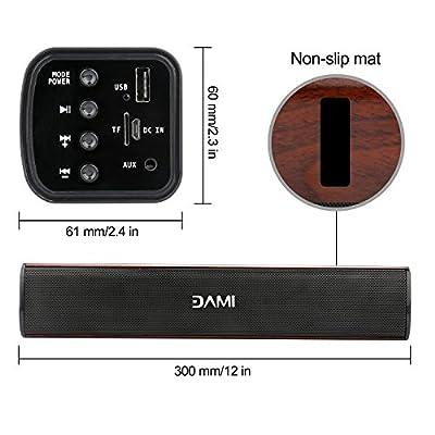 Sonfan Wireless Bluetooth Speaker Portable Soundbar 3D Surround with Smartphones etc New version