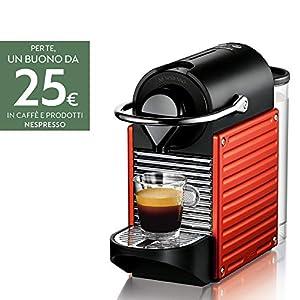 Krups XN3006 Nespresso Pixie - Macchina per caffè espresso, Rosso / Nero (Electric Red)