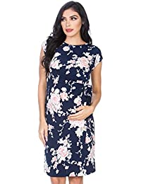 Women's Side Bow Tie Pattern Cap Sleeve Maternity...