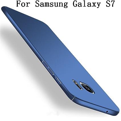 Amazon.com: Galaxy S7 Carcasa, heyqie [Piel Touch Feel ...