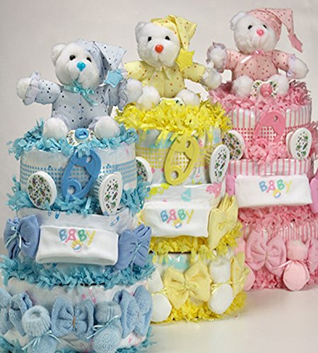 Sweet Baby Diaper Cakes-Lemon by Silly Phillie