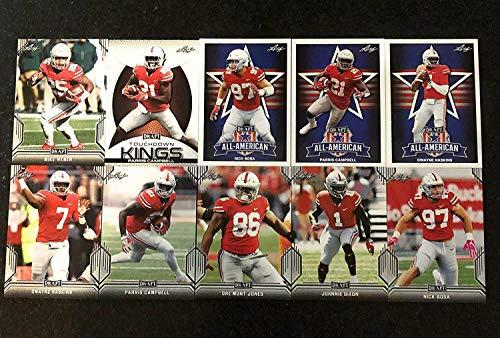 2019 LEAF DRAFT SET NFL DRAFT OHIO STATE BUCKEYES 10 CARD ROOKIE TEAM SET LOT! INC NICK BOSA HASKINS WEBER CAMPBELL DIXON JONES ROOKIES!!