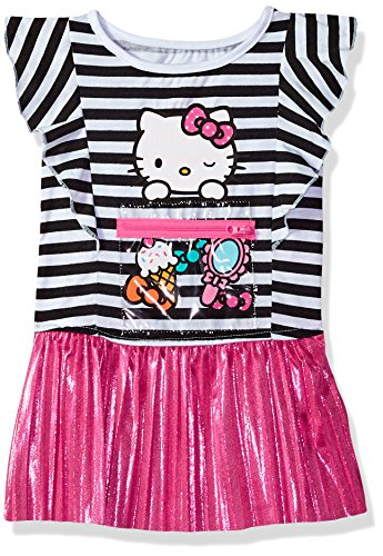 Hello Kitty Baby Girls Embellished Tutu Dress, Pink Stripe 18M