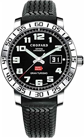 8c16c387f132 Image Unavailable. Image not available for. Color  Chopard Mille Miglia  Gran Turismo Steel Black Rubber Mens Watch 16 8955