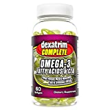 Dexatrim Complete- Omega 3 Fatty Acids & CLA | Rich in Omega 3, Fish Oil & Flaxseed to Support Body Fat Reduction Targeted at Stomach, Hips and Buttocks (Softgels 60-Count Bottle)