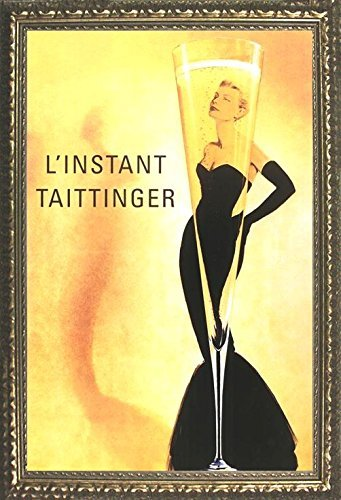 Poster 36 Sexy - Buyartforless Framed L'Instant Taittinger (Grace Kelly Champagne Ad) 36x24 Art Print Poster Sexy Retro Vintage Advertisement