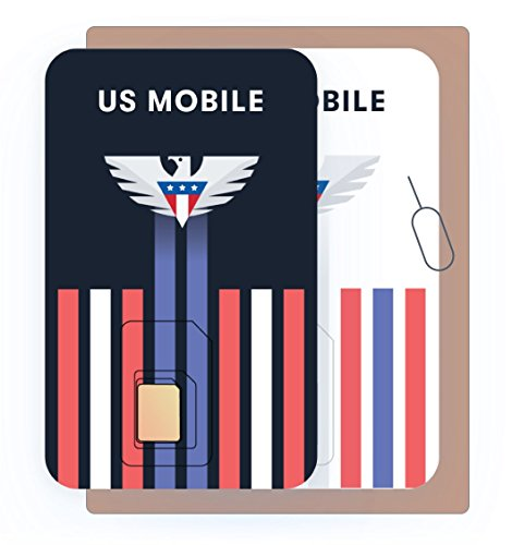 (Prepaid SIM Card (US Mobile) - Custom Plans from $4/mo. Unlimited Plans from $10/mo.)