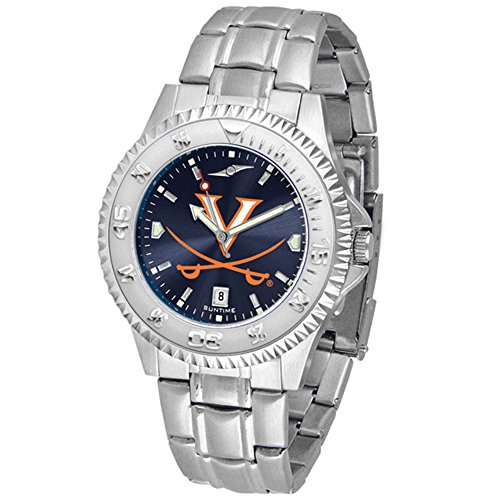 Virginia Cavaliers Competitor Steel AnoChrome Men's Watch (Competitor Watch Virginia)