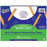 "Pacon Multi-Program Handwriting Paper, 10 1/2""X8"", D'Nealian (Grade 1) Zaner-Bloser (Grade 2), 500 Sheets"