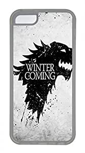 iPhone 5c case, Cute Winter Is Coming 2 iPhone 5c Cover, iPhone 5c Cases, Soft Clear iPhone 5c Covers by lolosakes