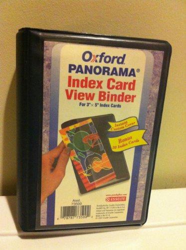 Oxford Panorama Index Card View - Card Oxford Binder Index