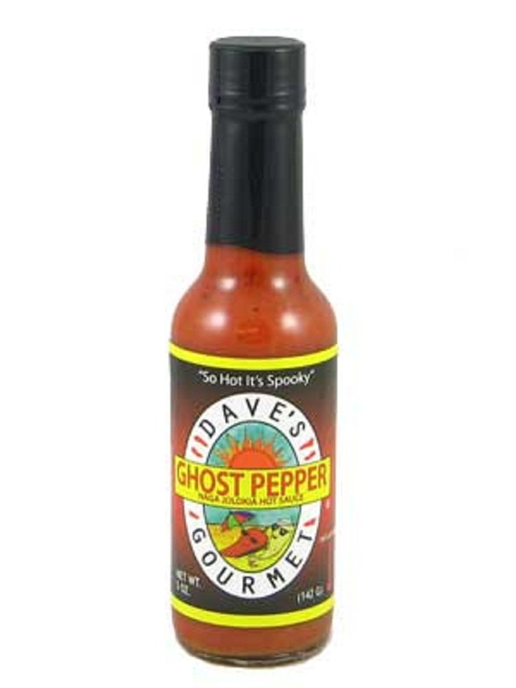 Dave's Gourmet Ghost Pepper Naga Jalokia Hot Sauce 5 oz. (Case of 12) by Dave's Gourmet