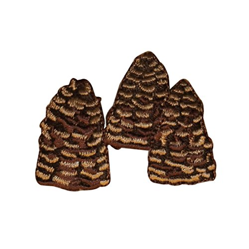 Pinecone Patch - ID 0731 Group of Pine Cones Patch Tree Seed Craft Embroidered Iron On Applique