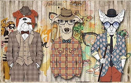 (Wall Mural 3D Nostalgic Abstract Animal Costume Modern Custom Photo Wallpaper Murals Wall)