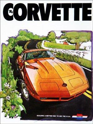 Racing Brochure - 1974 Chevrolet Corvette Color Sales Brochure (with racing decal)