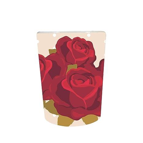 YaYa Cafe™ Floral Flower Fascinating Rose Charming Decorative Pot Planter Indoor (Only Pot)