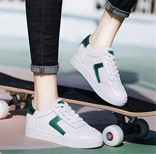 Aumento Shoes da Donna Flat da Ginnastica Stringate 2018 Little Scarpe Womens's White B Ponte New Fall Scarpe da Invisibile con Scarpe Casual Exing Shoes f516qw