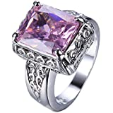 Sumanee Women Fashion 925 Sterling Silver Pink Topaz Gemstone Ring Wedding Jewelry New (7)