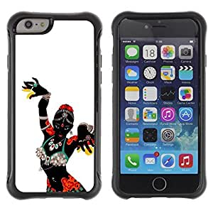 iArmor Hybrid Anti-Shock Defend Case / African Woman Native Tribal Dancer / Apple Iphone 5s