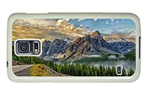 Hipster Samsung Galaxy S5 Case buy mountains scenery PC White for Samsung S5