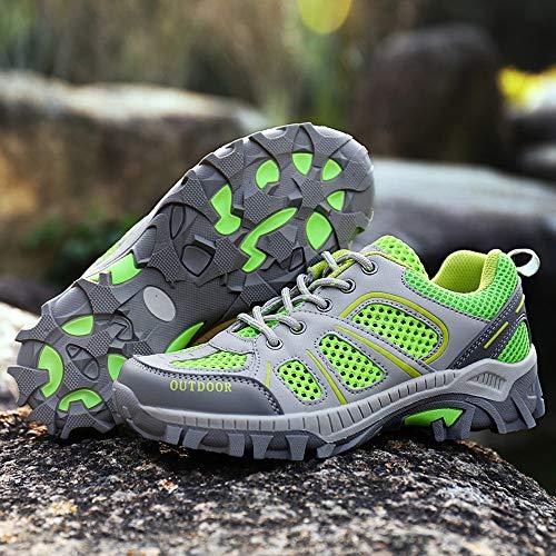 para Al Ocasionales OHQ Zapatillas con CóModo Zapatillas con para Correr Libre Verde Correr Aire De Gimnasia CóModos Alpinismo De Cordones Mujer Cordones x6nXUvw6qr