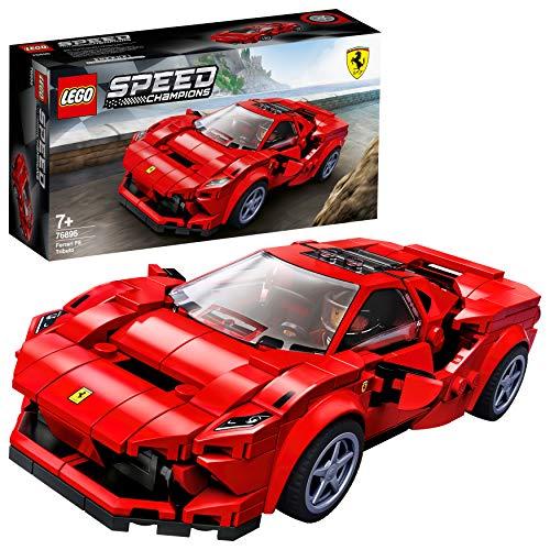 51MtoG3BOBL Este juego de juguetes tan espectacular contiene un maravillosamente detallado Ferrari F8 Tributo: el regalo de cumpleaños ideal para los apasionados de la construcción de réplicas LEGO que también usan su maqueta del deportivo Ferrari para representar sus propias carreras. Incluye un kit de construcción de una maqueta del Ferrari F8 Tributo y 1 minifigura de un piloto de carreras de Ferrari coleccionable. Este juego para construir tu propio coche de juguete pondrá el turbo a la imaginación de los peques mientras recrean la emocionante acción de los circuitos de carreras. La primera oportunidad que existe de construir una réplica de juguete del potentísimo Ferrari F8 Tributo. Los niños podrán exponerla en casa o usarla para escenificar emocionantes carreras con sus amigos.