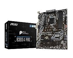 MSI Model B360APRO Intel Chipset Socket H4 LGA-1151 B360-A PRO Desktop Motherboard