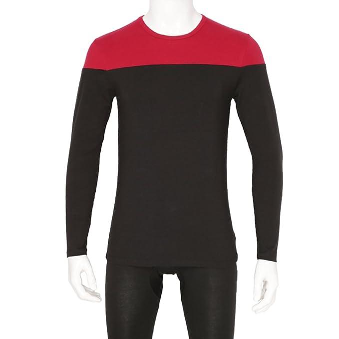 T color para la ropa interior de invierno/ empalme conjunto de ropa interior/ caída