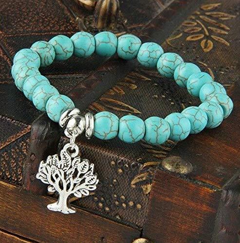 - Sandover Turquoise Gemstone Bracelet Elephant Dog Cat Heart Charm Bracelets Jewelry Gifts | Model BRCLT - 47878 |