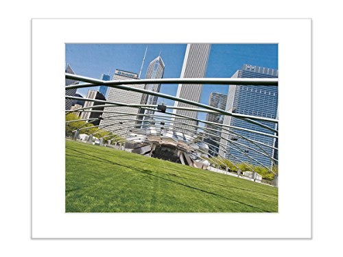 5x7 Matted Art Print Chicago Urban Photo Architectural City Amphitheater Picture - Architectural Silver Outdoor Wall