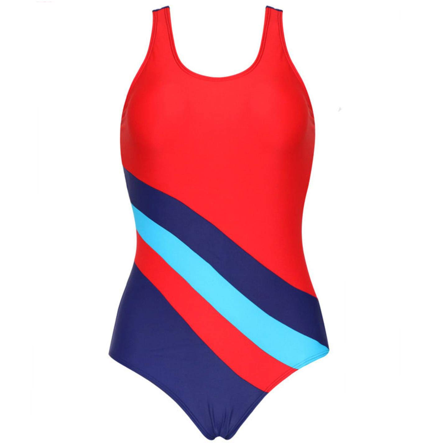 QVKis Women Patchwork One Piece Swimsuits Padded Beachwear Bathing Suits