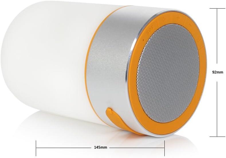 Altavoz Bluetooth ABTOR cargador recargable LED farol lámpara de SOS 2-in-1 y e-readers de micrófono para actividades al aire libre, Picnics, barbacoa, billar fiesta, playa: Amazon.es: Jardín