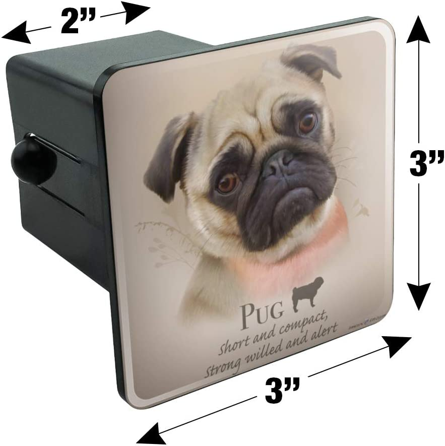 Graphics and More Pug Dog Breed Tow Trailer Hitch Cover Plug Insert