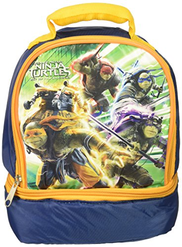 Shaped Lunch - Teenage Mutant Ninja Turtles Dome Shaped Lunch Bag with Drop Bottom