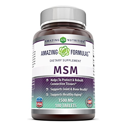 Amazing Formulas MSM (Methylsulfonylmethane) Dietary Supplement – 1000 mg - 200 Tablets Per Bottle- Promotes Joint Health, Detoxification, Supports Healthy Hair, Skin And Nails, Promotes Energy* by Amazing Nutrition