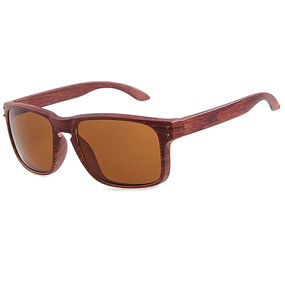 Gafas de ciclismo gafas de sol hombre polarizadas Aviador gafas de sol vintage de ojo de gato retro verano viaje con marco de madera para Deportes acuáticos ...