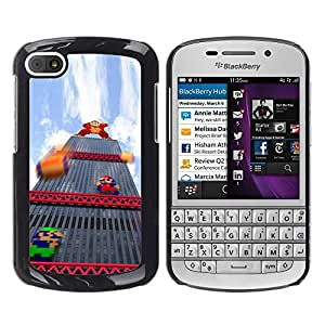 Estuche Cubierta Shell Smartphone estuche protector duro para el teléfono móvil Caso BlackBerry Q10 / CECELL Phone case / / Italian Plumber Retro Pc Game /