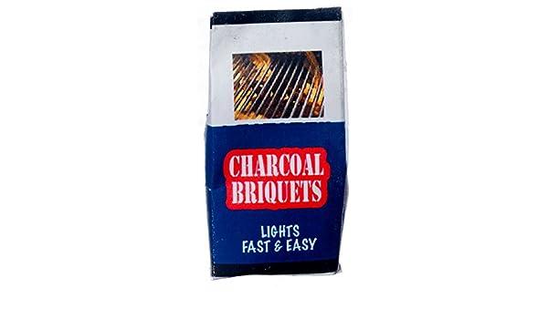 "Dollhouse Miniature Bag of /""Grilling/"" Charcoal Briquettes"