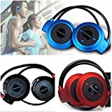 Mobile Link Neckband Mini Wireless Sport Bluetooth Headset/headphone (Multi-color) Music Stereo Bluetooth Earphone Micro SD Card Slot Compatible for Huawei Honor 6X