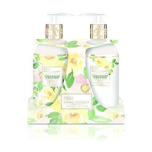 (Baylis & Harding Royale Bouquet Lemon Blossom & White Rose 2 Bottle Set, 1220 Gram)