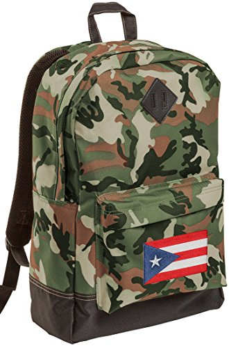 Puerto Rico Flag CAMO Backpack MEDIUM Puerto Rico Backpacks