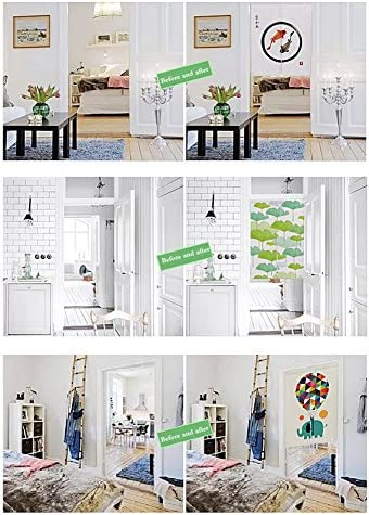 Crazy Cart Japanese Noren Doorway Curtain Tapestry – Include Free Tension Rod 33.5 x59.1