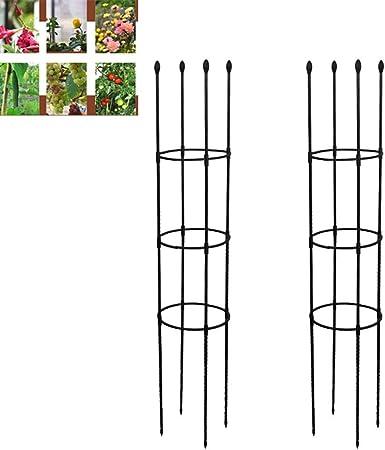 XJAXY Columpio Planta Planta de Apoyo Enrejado jardín Enrejado Torre de Hierro Forjado cilíndrico Soporte de Flor decoración de jardín Soporte para jardín Parras Flores Soportes: Amazon.es: Hogar