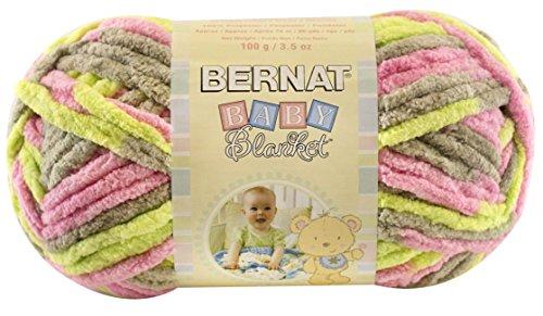 Bernat  Baby Blanket Yarn - (6) Super Bulky Gauge  - 3.5oz - Multicolor - Single Ball  Machine Wash & Dry (Desert High Machine)