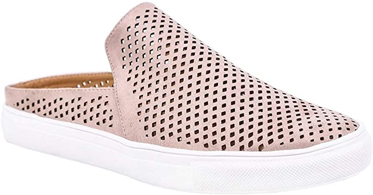 Womens Perforated Mules Sneakers
