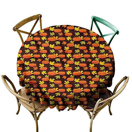HeKua Pumpkin,Table Cover Easter Maple Tree Leaves Plants D 54